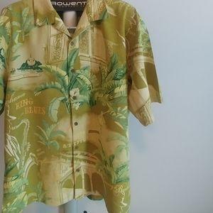 Tommy Bahama Mens Shirt Sleeve Silk Shirt | L
